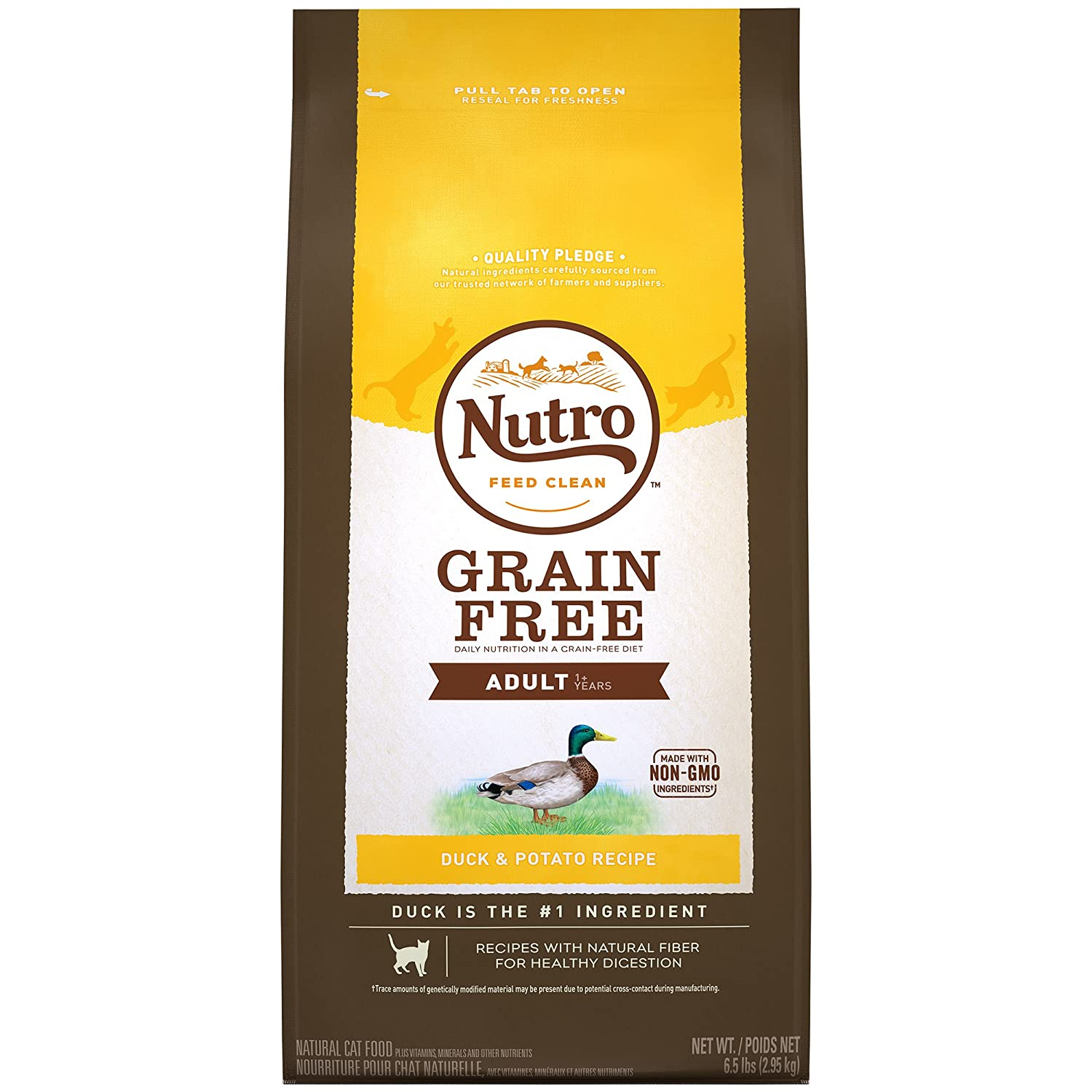 Nutro Grain Free Dry Food for Cats Duck 2.95kg