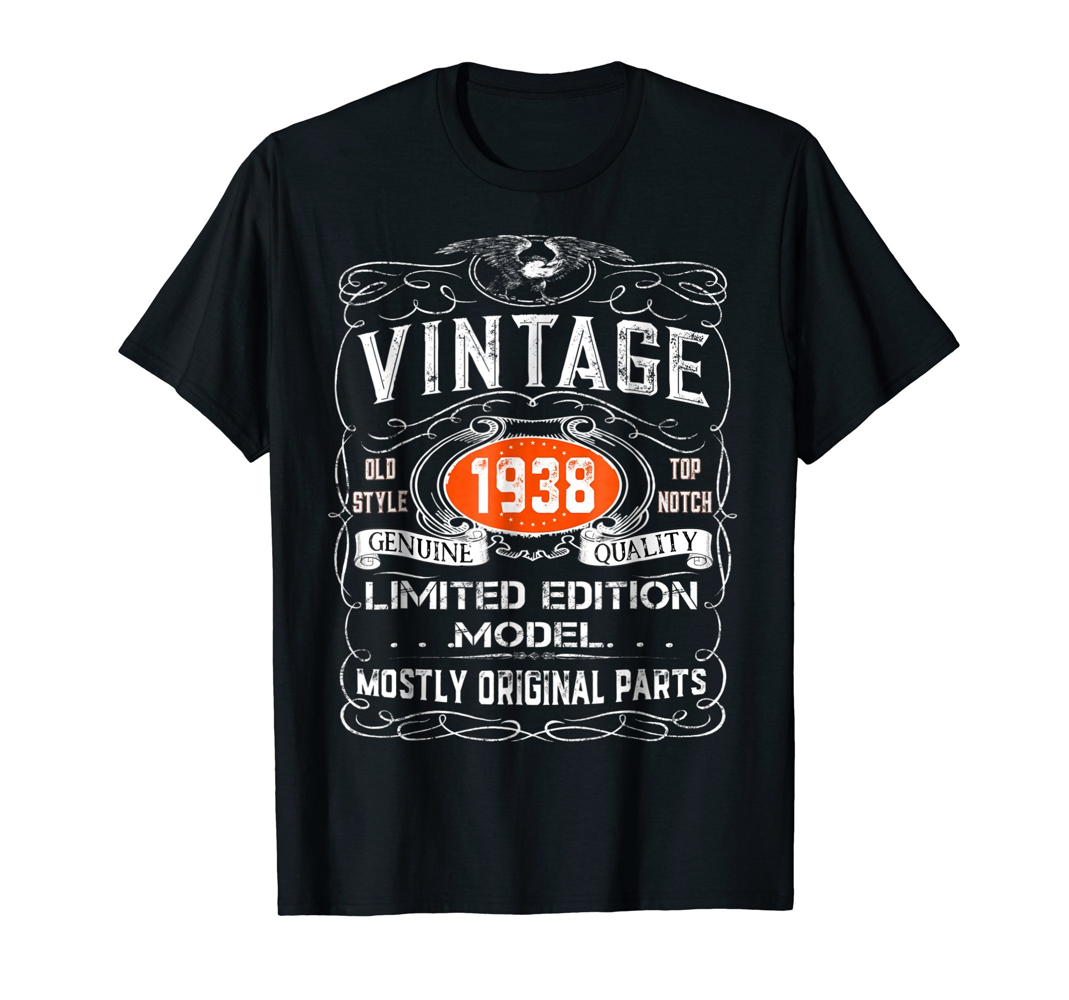 Vintage 1938 T-Shirt - 80th birthday gift shirt by Vintage Gift Tees (Image #1)