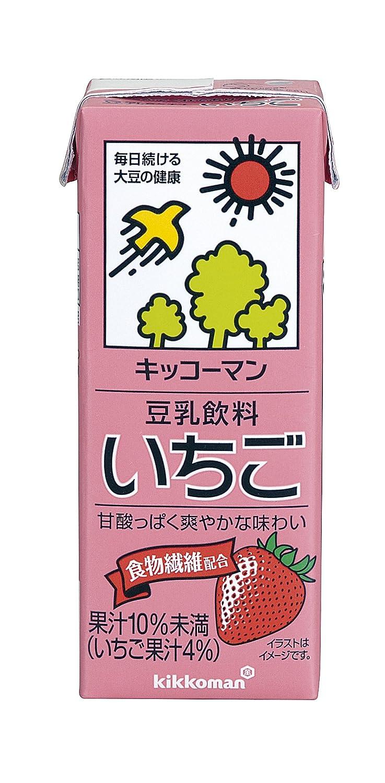 キッコーマンの豆乳飲料シリーズでカロリーが低い方に分類されるいちご味