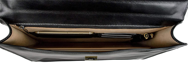 Leather Briefcase Time Resistance Leather Laptop Bag Messenger Bag