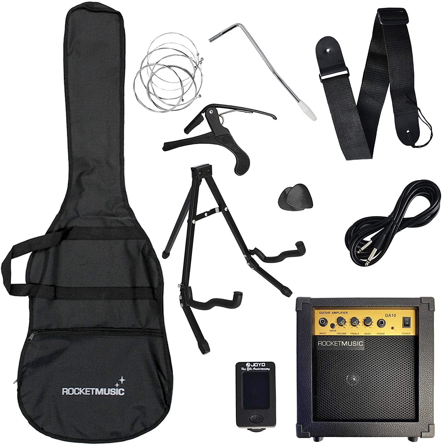 Rocket 3//4 Size Beginner Electric Guitar Premium Pack with Amp