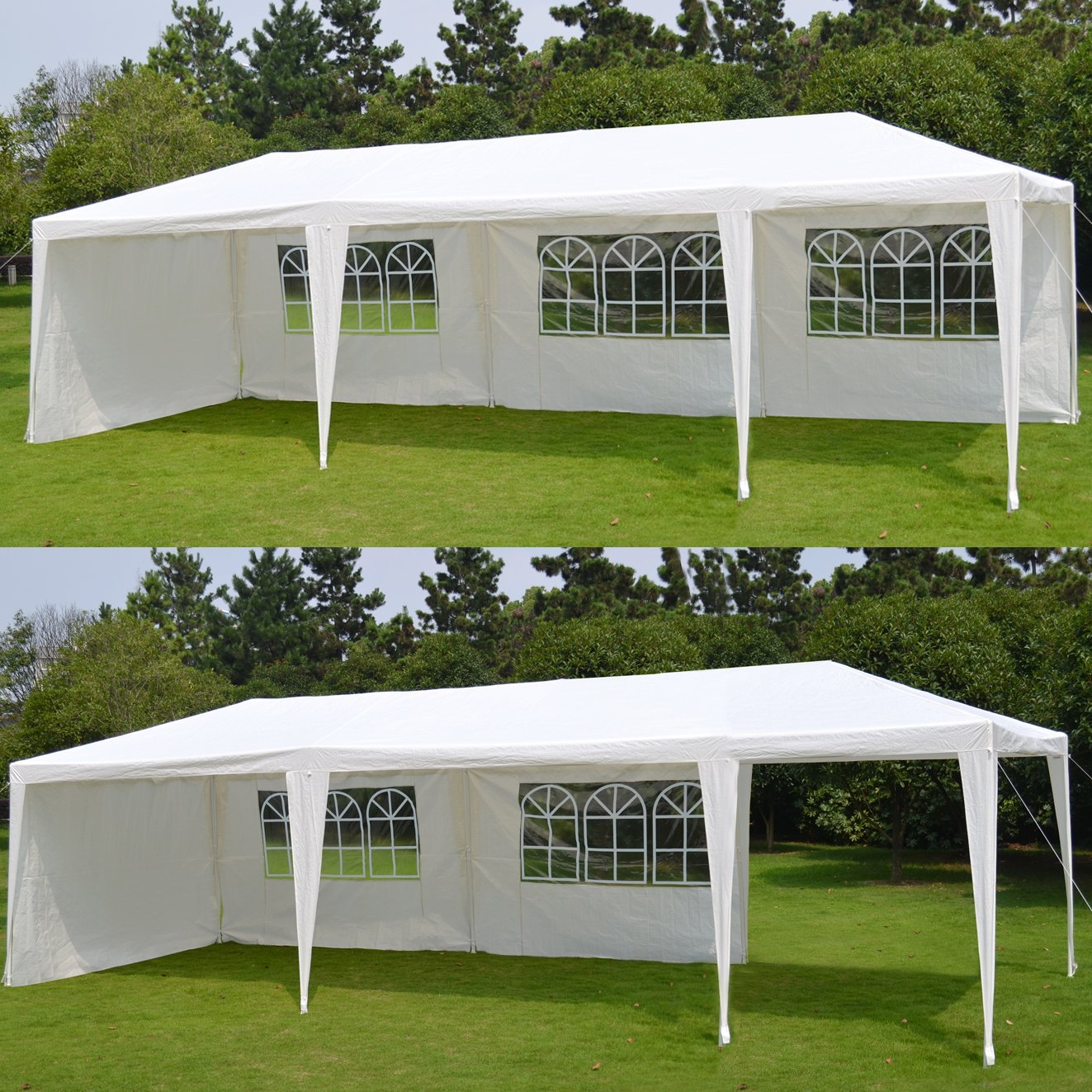 Amazon.com BenefitUSA Wedding Party Tent 10u0027X30u0027 C&ing Outdoor Easy Set Gazebo BBQ Pavilion Canopy Garden u0026 Outdoor & Amazon.com: BenefitUSA Wedding Party Tent 10u0027X30u0027 Camping Outdoor ...