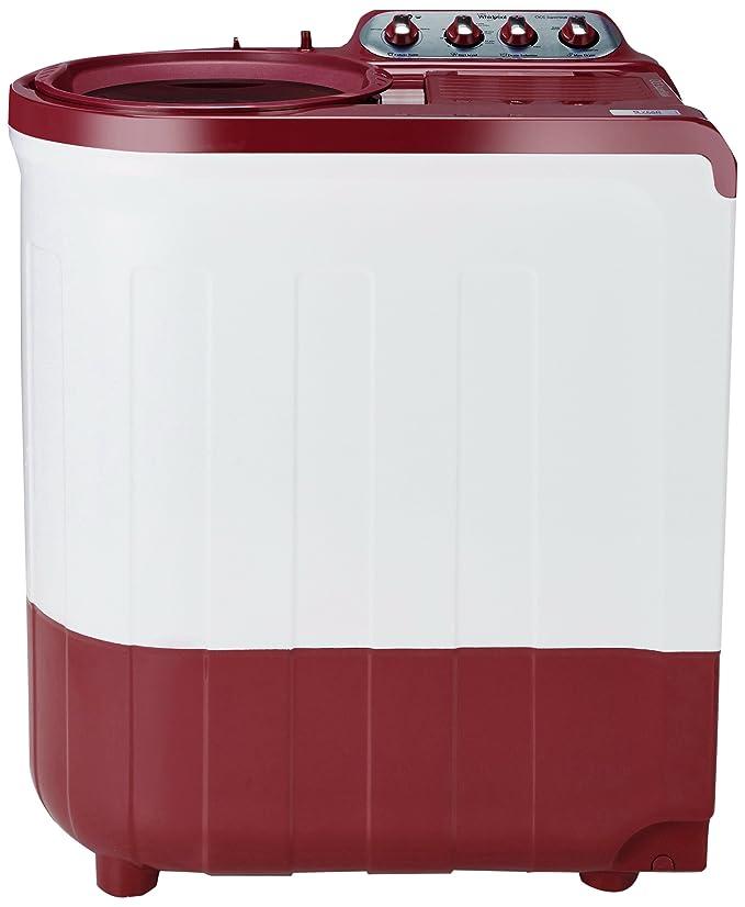 Whirlpool 8 kg Semi Automatic Top Loading Washing Machine  ACE SUPER SOAK 8.0, Coral Red, Supersoak Technology  Washing Machines   Dryers