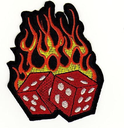 Cubitos de llamas Rockabilly Tattoo parche plancha de: Amazon.es ...