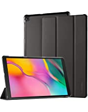 EasyAcc Case for Samsung Galaxy Tab A 10.1 2019 T510/ T515 - Ultra Thin with Stand Function Slim PU Leather Smart Case Fits Samsung Galaxy Tab A T510/ T515 10.1 Inch 2019 Black