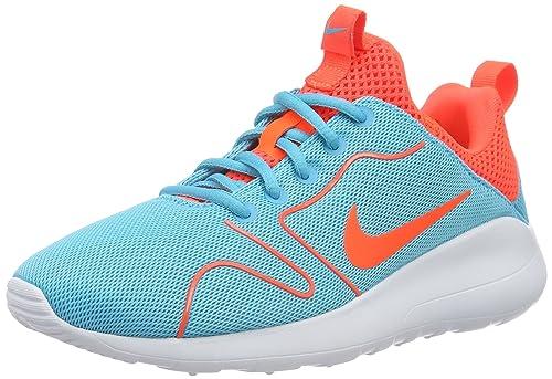 the latest b08ba 8de2b Nike Women's Kaishi 2.0 Damen Laufschuhe Low-Top Sneakers, Turquoise (Gamma  Blue/