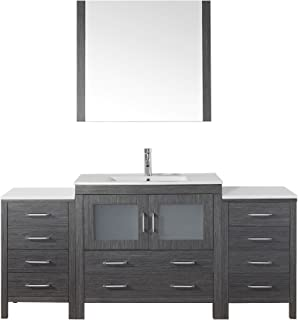 Virtu USA KS 70072 C ZG Modern 72 Inch Single Sink Bathroom