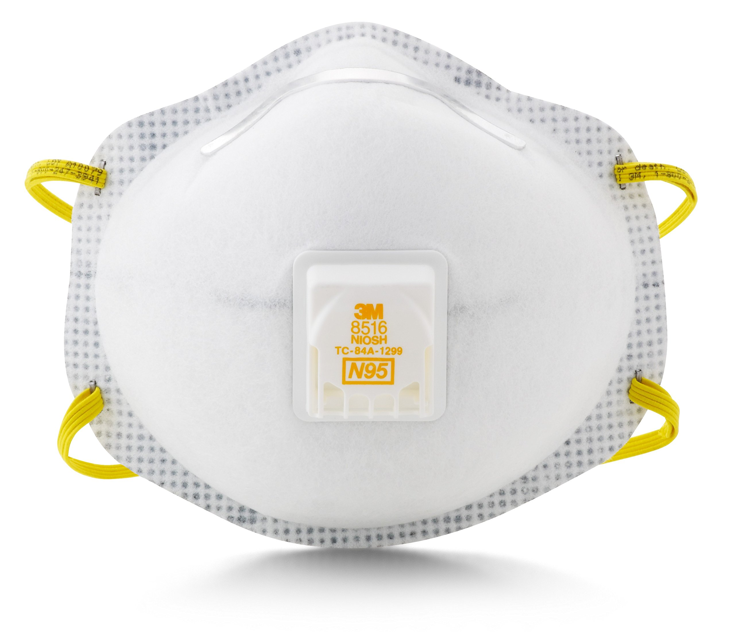 3M Particulate Respirator 8516, N95, with Nuisance Level Acid Gas Relief (Pack of 10) by 3M Personal Protective Equipment (Image #2)