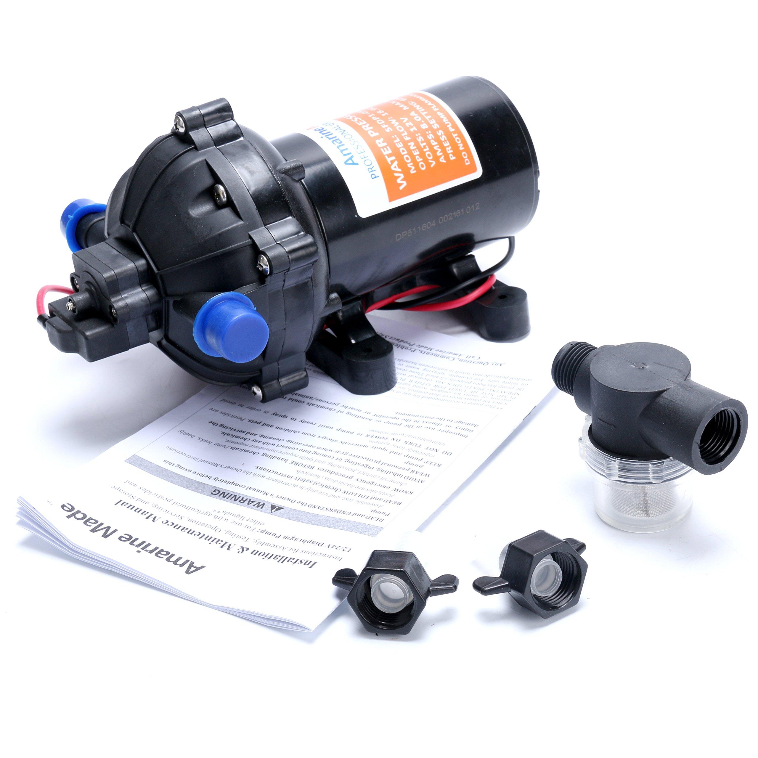 Diaphragm pump amazon amarine made 12v water pressure diaphragm pump 189 lmin 50 gpm 60 psi ccuart Images