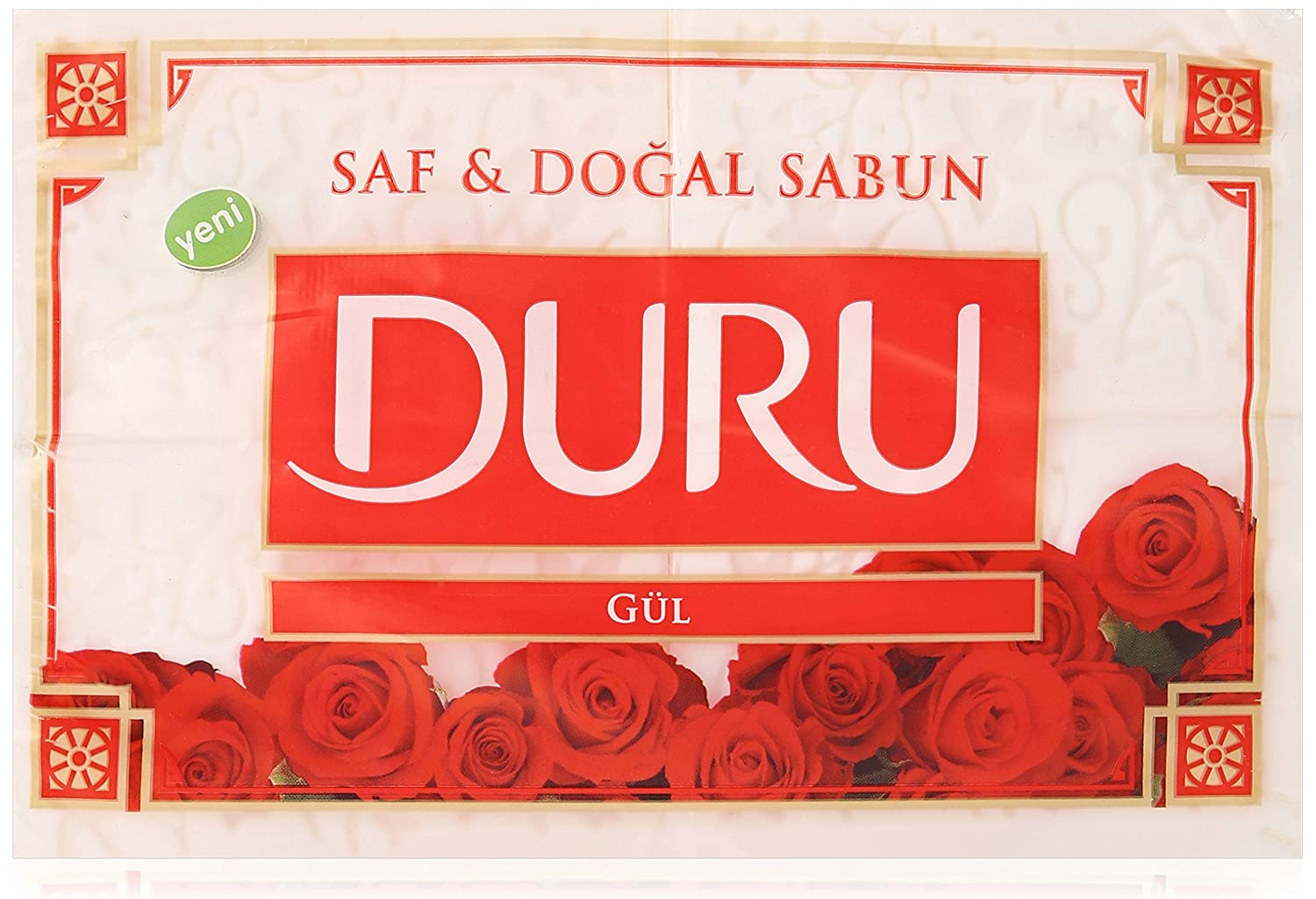 Duru Pure And Natural Bar Soap Rose 2469 Ounce Beauty Sabun Red