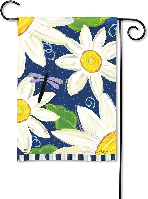 BreezeArt Studio M Daisy Blues Decorative Garden Flag – Premium Quality, 12.5 x 18 Inches