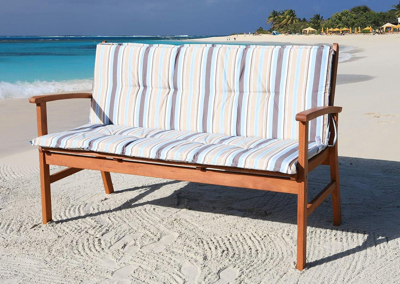 GRASEKAMP Qualität seit 1972 Auflage Marine für Gartenbank 150cm Rio Grande Bank Gartenmöbel