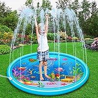 Queta Splash Pad, 170 cm sprinkleronderlegger zomer tuin waterspeelgoed zwembad oceaanleven splash speelmat voor outdoor…