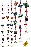 DreamKraft Rajasthani Decorative Elephant Door Hangings Wall Art (96 CM) (Set of 2)