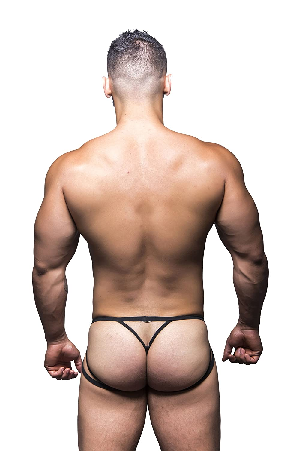 f74c2eacfad3 Amazon.com: Andrew Christian Men's Harness Jock Thong, Black, X ...