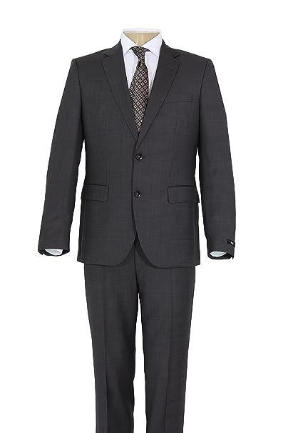 abdd8d46ad8 Hugo Boss Johnstons1 Lenon Italian Wool 2 Piece Men s Suit Micro Check Dark  Grey (