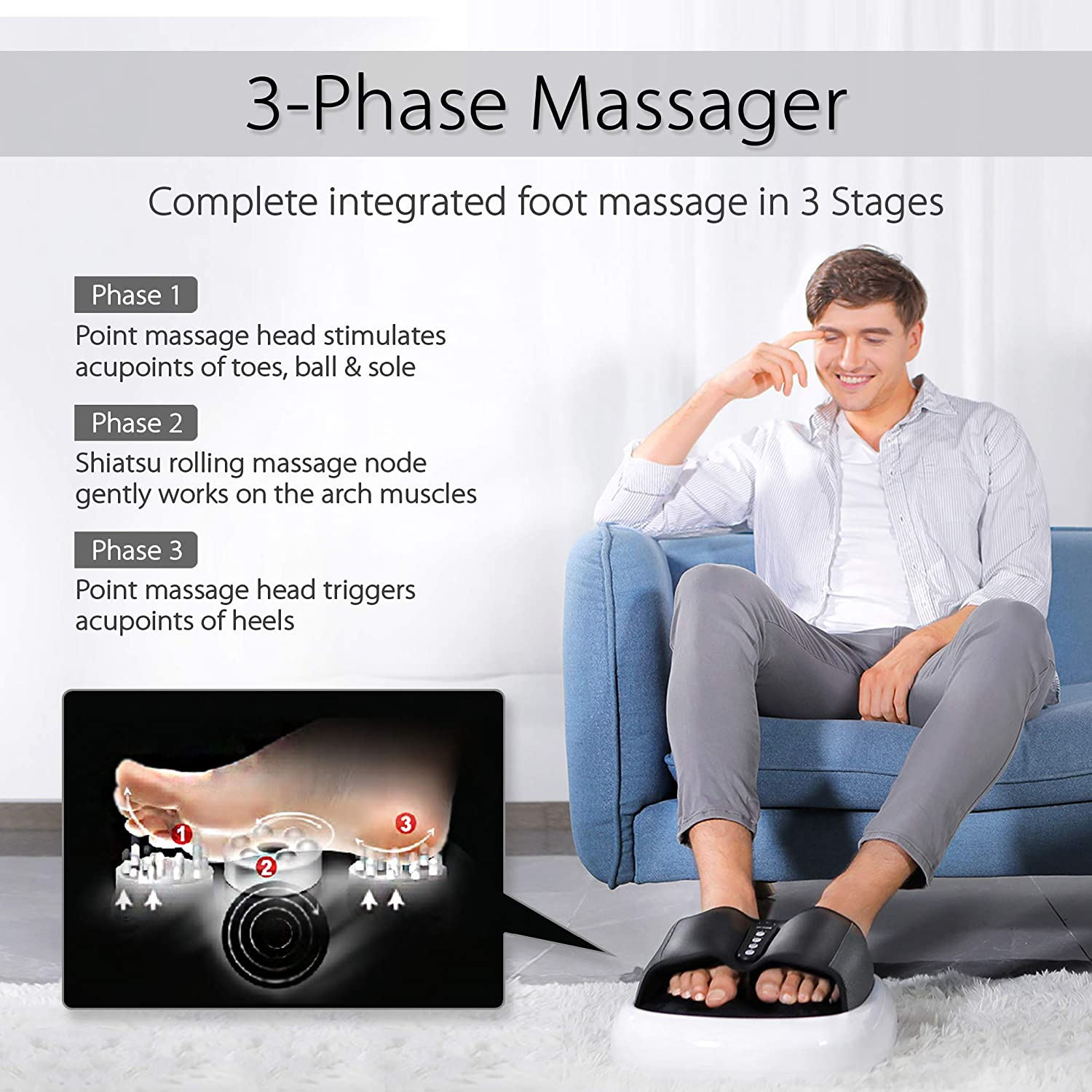 HealthSense LM 310 Heal-Touch Foot Massager with Heat (LM 330): Amazon.in:  Health & Personal Care