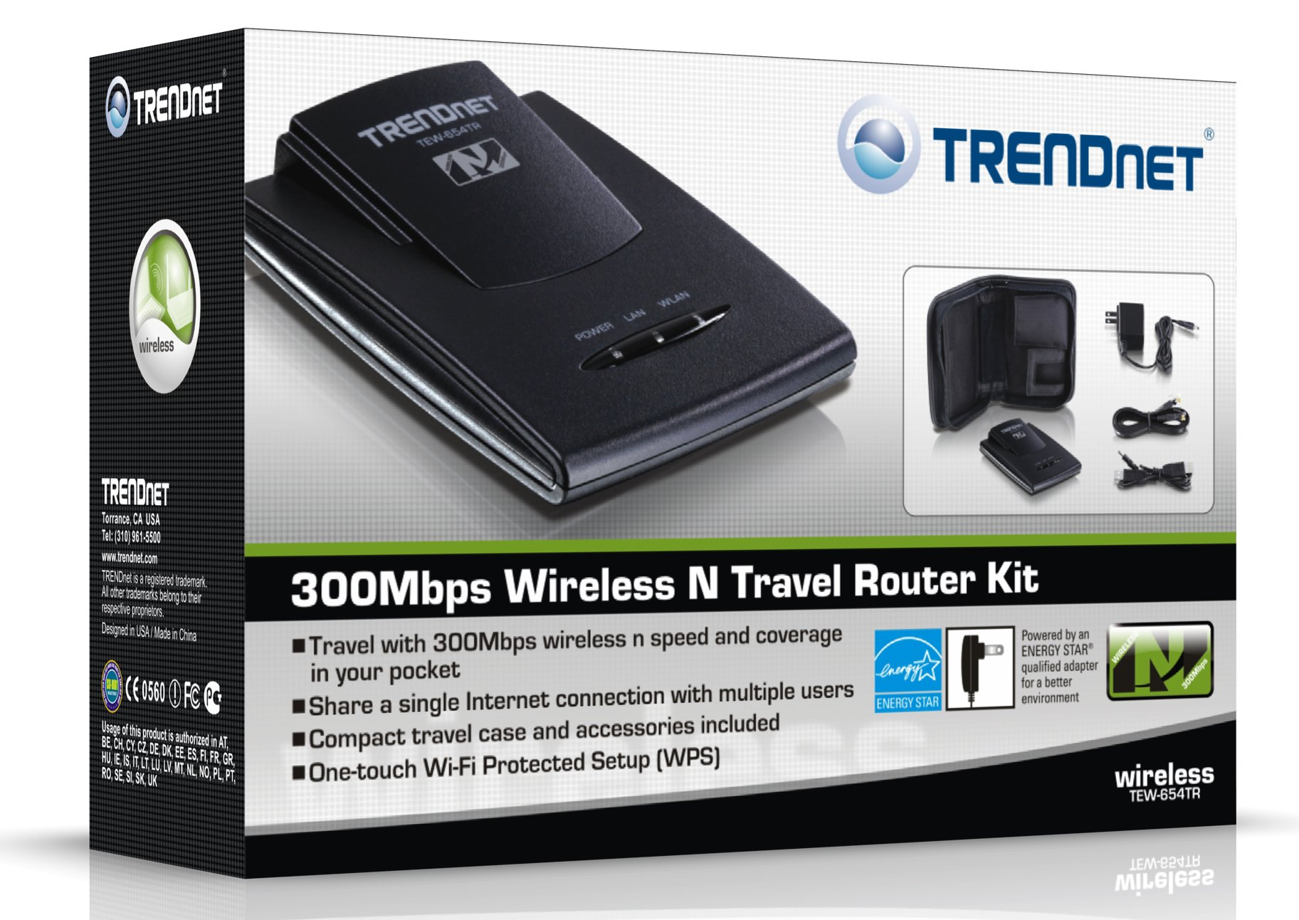 TRENDnet Wireless N 300 Mbps Travel Router Kit, TEW-654TR by TRENDnet (Image #4)