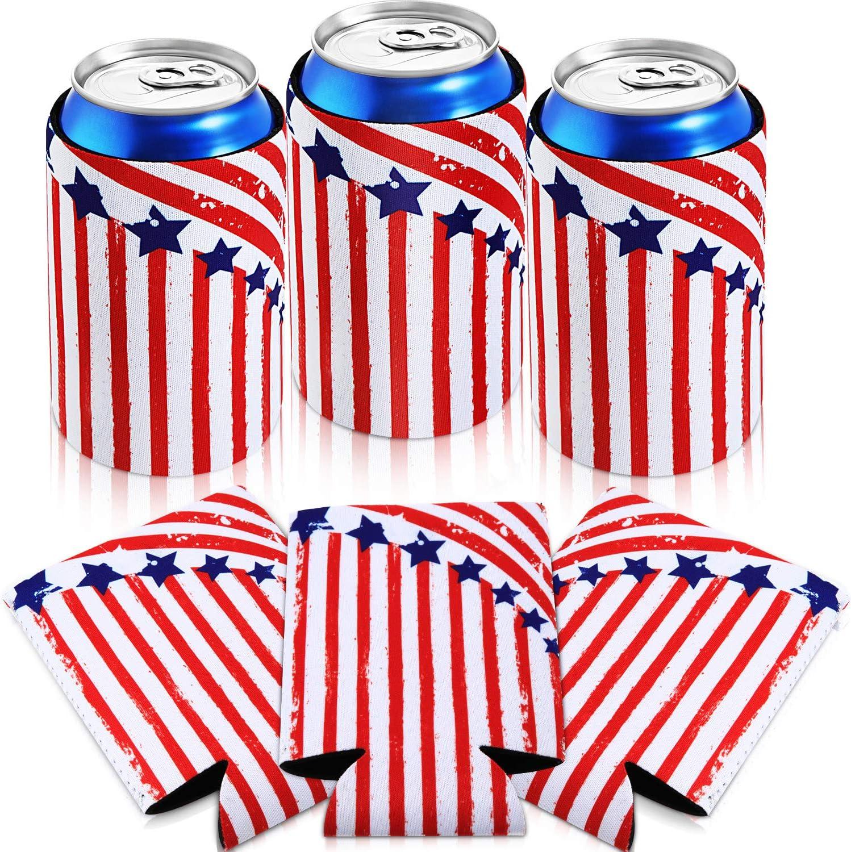 Maitys 6個 12オンス スリム缶スリーブ 断熱ビール缶スリーブ ネオプレンスリーブ ビール/ドリンク/パーティー用品用 ブルー