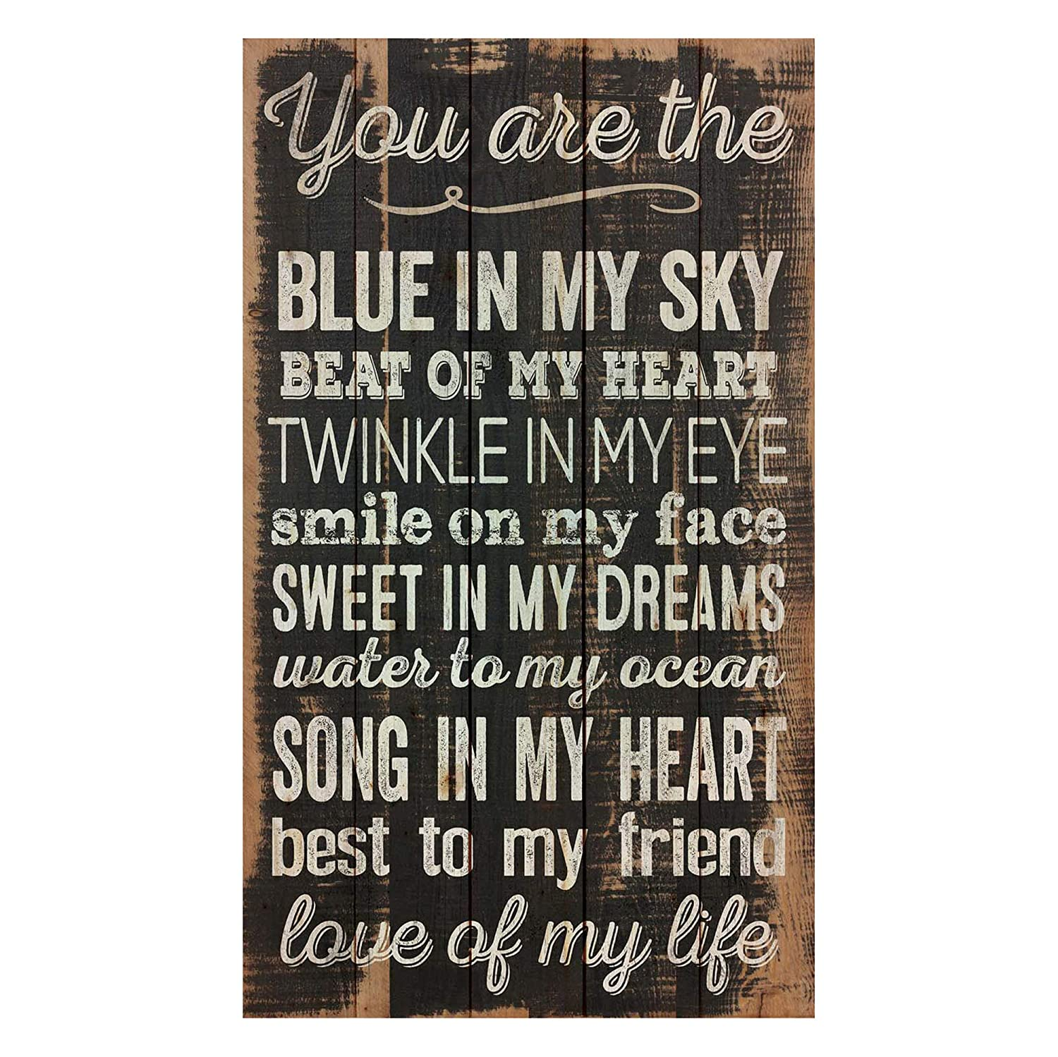 P. Graham Dunn You are The Love of My Life Distressed Design 24 x 14 Wood Pallet Wall Art Sign Plaque