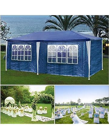 HG® carpas carpa 3x6m camping Posibilidad de playa construcción de acero Faltpavillon con gruesos postes