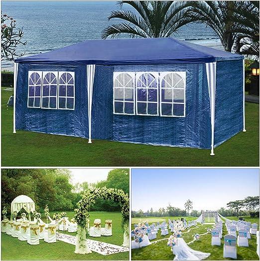 HGR carpas carpa 3x6m azul camping Posibilidad de playa construcción de acero Faltpavillon con gruesos postes de acero a prueba de agua adicionales ...