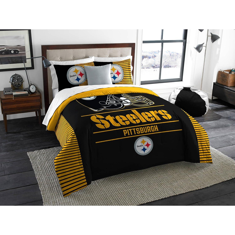 Pittsburgh Steelers NFL Full/Queen Comforter & Pillow Shams (3 Piece Bedding Set) + Homemade Wax Melts