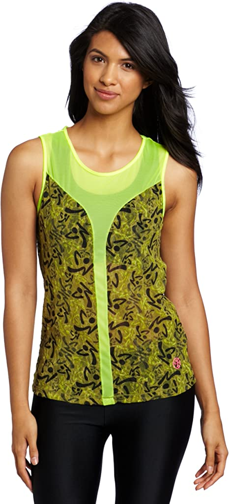 Zumba® – Be Free Sleeveless Top | Safety Yellow