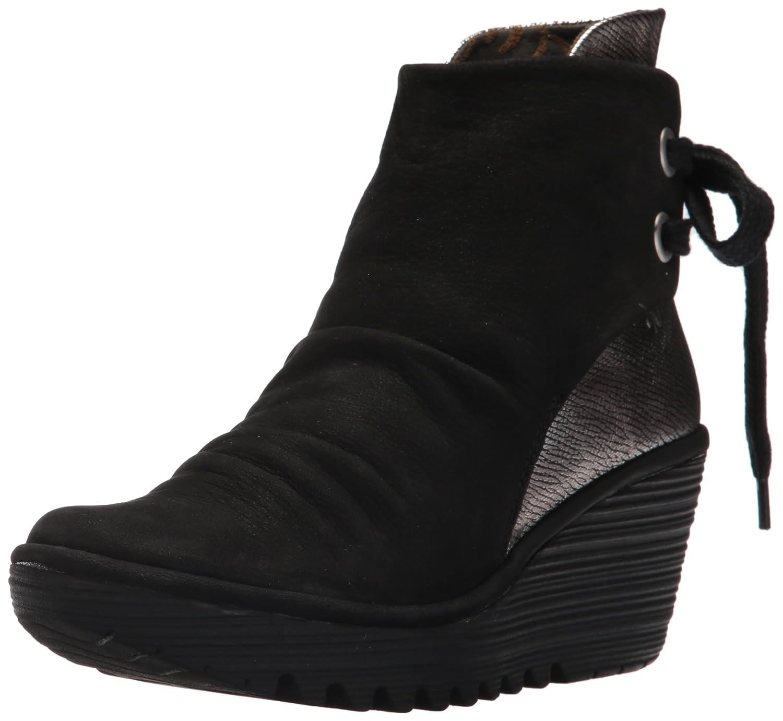 FLY London Women's Yama Ankle Boot B06WWR1RQF 38 M EU (7.5-8 US)|Black/Ant Silver Cupido/Franz