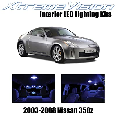 Xtremevision Interior LED for Nissan 350Z 2003-2008 (5 Pieces) Blue Interior LED Kit + Installation Tool: Automotive