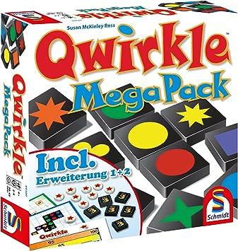 Schmidt Spiele 49309 Qwirkle Mega Pack - Juego de Mesa, Multicolor (Idioma español no garantizado): Amazon.es: Juguetes y juegos