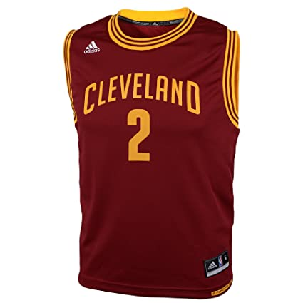 best sneakers 526c7 8fa63 NBA Cleveland Cavaliers Kyrie Irving  2 Youth Replica Road Jersey, Red,  Small. Roll over image to ...