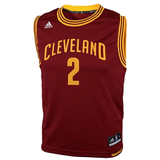 885ef26b78aed Amazon.com : adidas Kyrie Irving Cleveland Cavaliers Youth Maroon Jersey :  Sports Fan Jerseys : Clothing