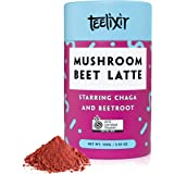 Teelixir Mushroom Beet Latte (100 g) Certified Organic Beetroot Juice Powder Superfood Blend with Wild Chaga Mushroom…