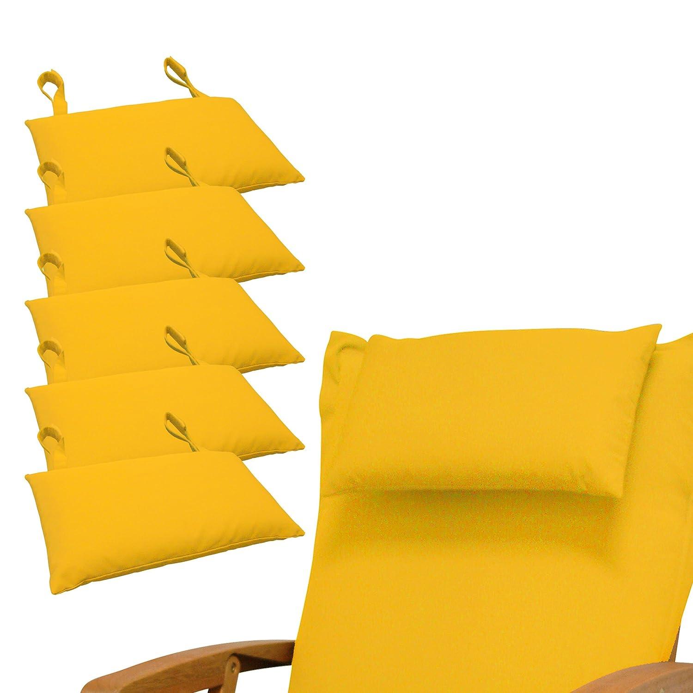 Indoba 6 x Premium-Gelb Kopfkissen-Auflage