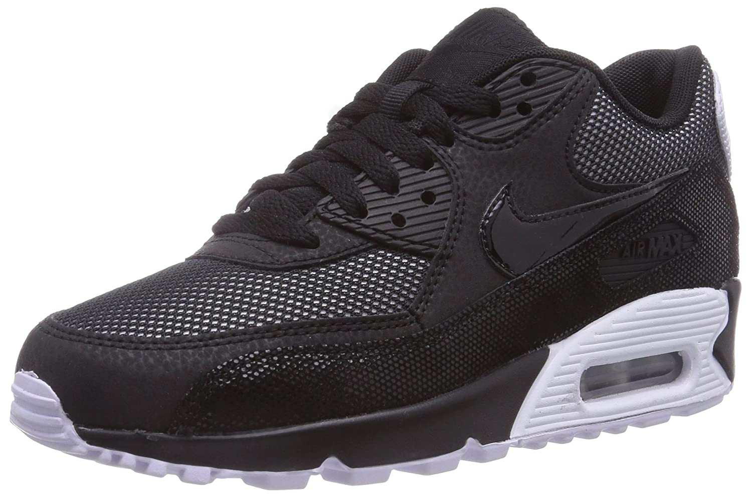 buy popular 77b75 bbb86 Nike Womens Air Max 90 Premium Running Shoe Black Size 3 Amazon.co.uk  Shoes  Bags