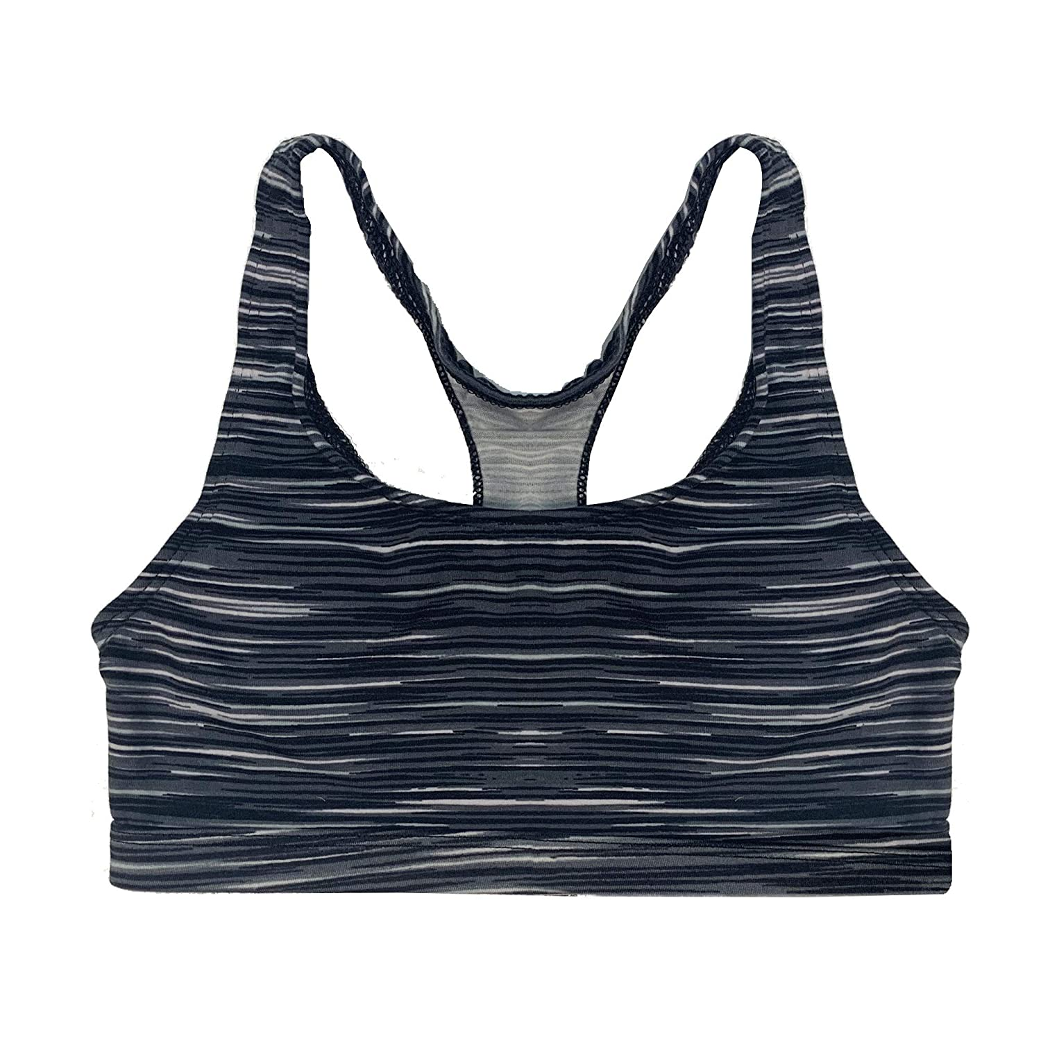 Popular Girls Print and Solid Racerback Sports Bra 2 Pack