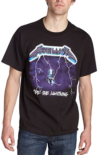 7f65ee7b8 Amazon.com  Bravado Men s Metallica- Ride Lightning T-Shirt  Clothing