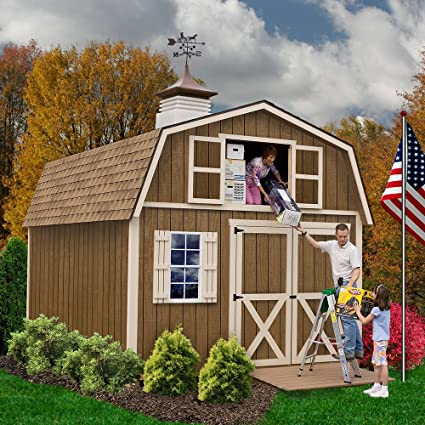 Best Barns Millcreek 12u0027 X 16u0027 Wood Shed Kit
