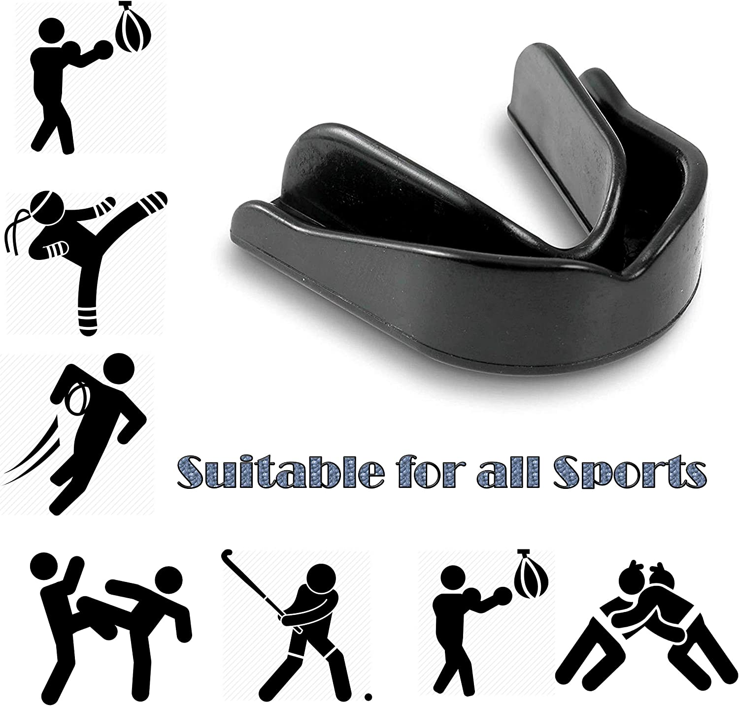 Mouth Guard unisex adult boil /& bite mouthguard gum shield for boxing rugby MMA Muay Thai Hockey Judo Karate Martial Arts