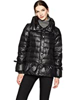 HAVEN OUTERWEAR Women's Funnel Neck Down Puffer Jacket With Peplum