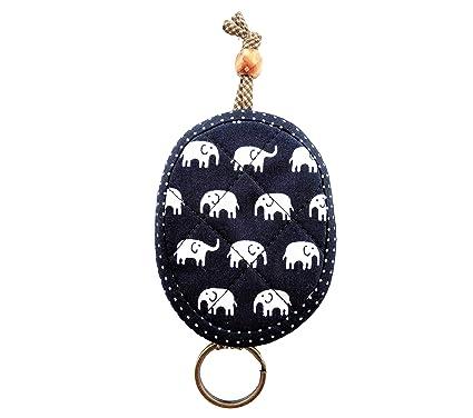 Amazon.com: Funda para llaves de elefante tailandés, tela de ...