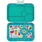 YUMBOX TAPAS Larger Size (Antibes Blue, Flamingo Tray) Leakproof Bento lunch box for Adults, Teens & Pre-teens
