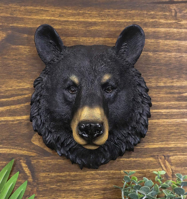Ebros Gift The Brave Black Bear Head Wall Decor Plaque 8