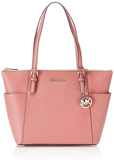 c1c082489155 Michael Kors Jet Set Item Ew Tz Tote, Women's Pink (Rose), 11.4x25 ...