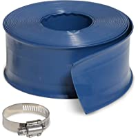 Milliard 50 ft Heavy Duty Backwash Hose, Great for Water Disposal - Weather and Chemical Resistant - 2 inch Diameter