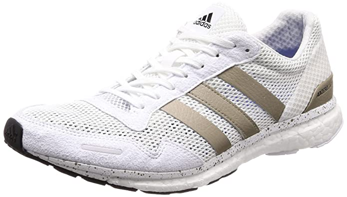 adidas Adizero Adios M, Chaussures de Cross Homme, Blanc Cassé (FTWR White/Cyber Met./Core Black FTWR White/Cyber Met./Core Black), 40 2/3 EU