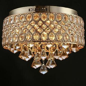 Deckenleuchte Ac110 240v 4 E14 Europaischen Luxus Kristall Lichter