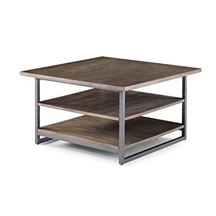 15eed98b99 Amazon.com: Barnside Metro Gray Coffee Table by Home Styles: Kitchen &  Dining