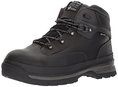164fa886614cb Timberland PRO Men's Euro Hiker Alloy Toe Waterproof Industrial &  Construction Shoe, Black Full Grain